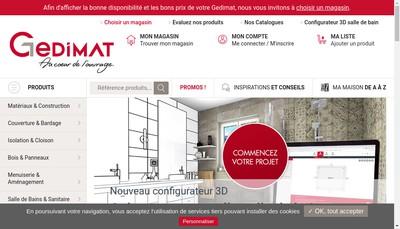 Site internet de Cofaq-Gedimat-Bricopro