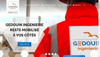 Site internet de Gedouin Ingenierie