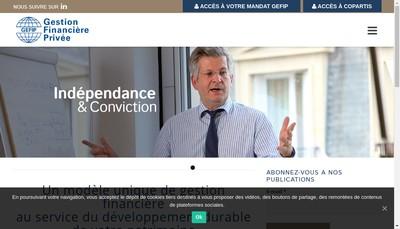Site internet de Gestion Financ Prive Gefip