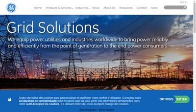 Site internet de Grid Solutions