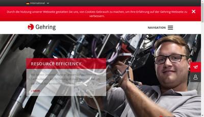 Site internet de Societe Gehring France