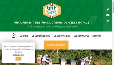 Site internet de Gpt des Producteurs de Gelee Royale