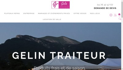 Site internet de Gelin Traiteur