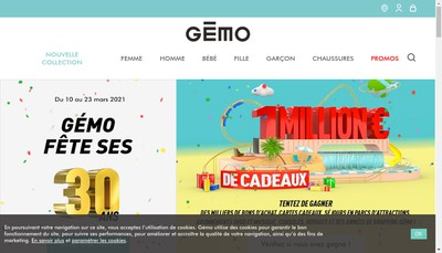 Site internet de Gemo