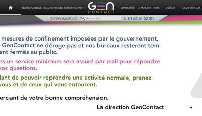 Site internet de Gencontact