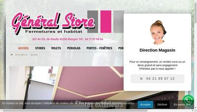Site internet de General Store Fermetures et Habitat