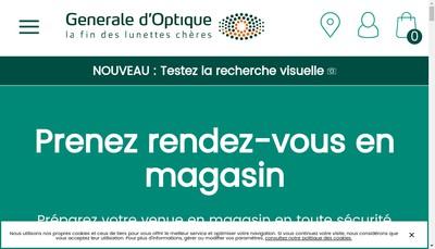 Site internet de Generale d'Optique