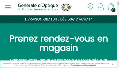 Site internet de Generale d'Optique