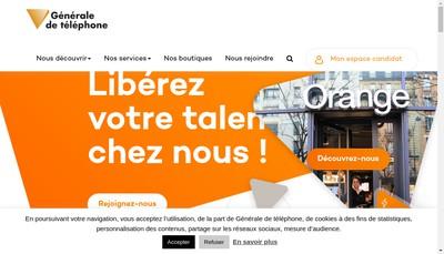 Site internet de Orange