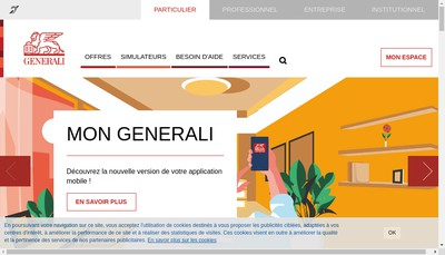 Site internet de Generali France Assurances