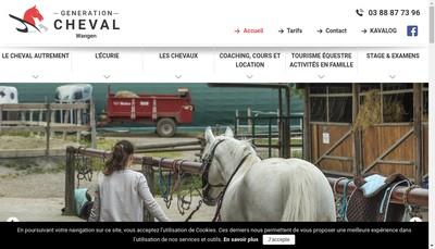 Site internet de Generation Cheval