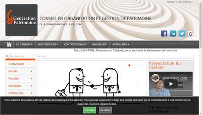 Site internet de Generation et Patrimoine