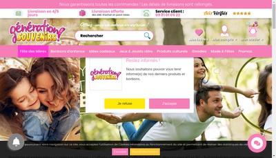 Site internet de Generation Souvenirs