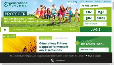 Site internet de Generations Futures