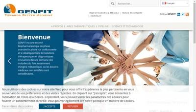Site internet de SA Genfit