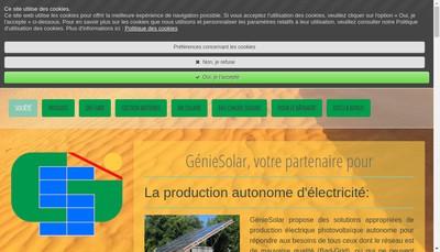 Site internet de Genie Solar