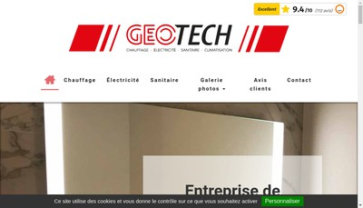 Site internet de Geotech