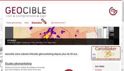Site internet de Geocible