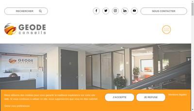 Site internet de Geode Conseils