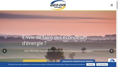 Site internet de Geo-Dis