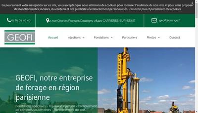 Site internet de Geofi