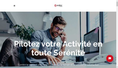 Site internet de Geoloc Systems