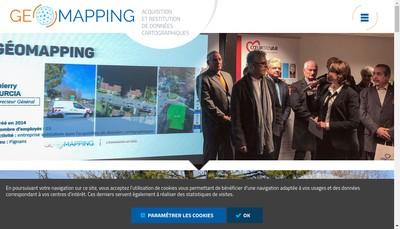 Site internet de Geomapping