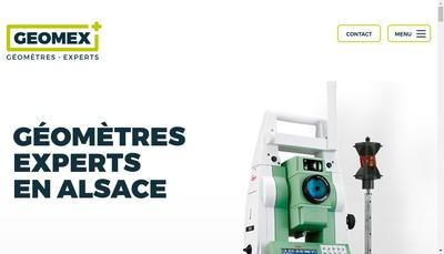 Site internet de Cabinet Geomex