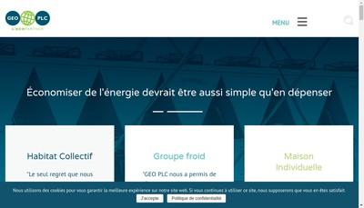 Site internet de Geo France Finance