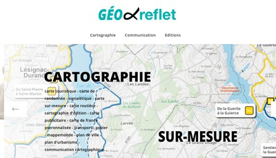 Site internet de Geo Reflet