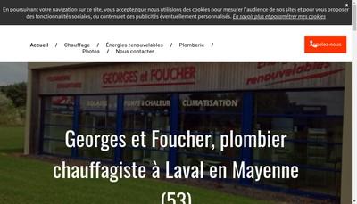 Site internet de Societe Georges et Foucher