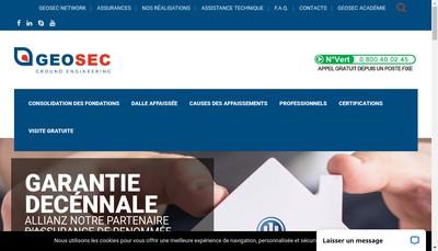 Site internet de Geosec France