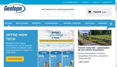 Site internet de Geotopo