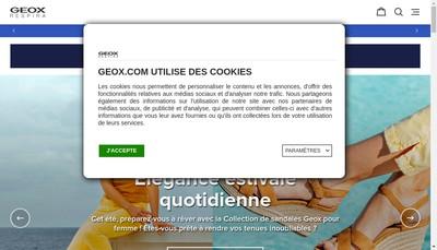 Site internet de SARL Geox