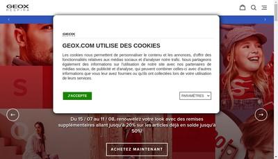 Site internet de Geox