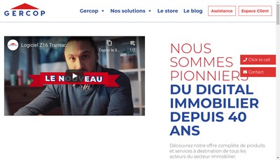 Site internet de Gercop Service Gercop Informatique Gercop Com Gercop Fr Gercop Net