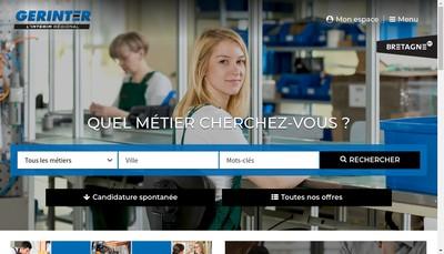 Site internet de Gerinter Rennes Metiers de la Construction et de l'Industrie du Batiment et des Travaux Publics