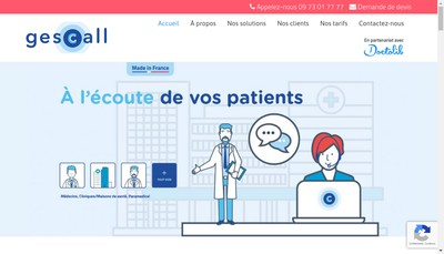 Site internet de Gescall