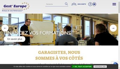 Site internet de Gest'Europe Expertise Groupement d'Achats