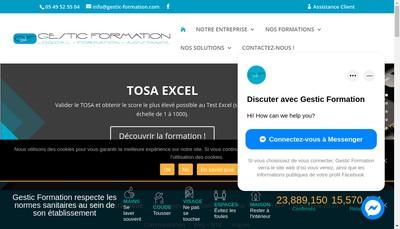 Site internet de Gestic Formation