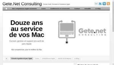 Site internet de Gete Net Consulting
