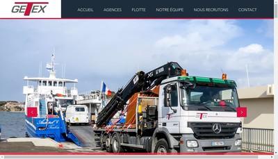 Site internet de Getex