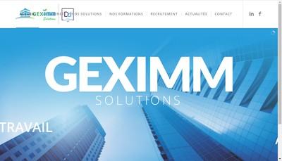 Site internet de Geximm Solutions