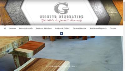 Site internet de Ghiotto Decoration