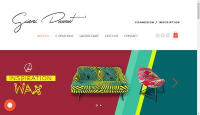Site internet de GA Desmet