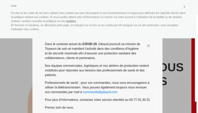 Site internet de Gibaud-Tournier Bottu International