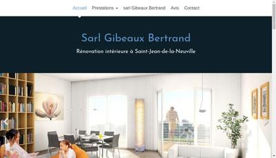 Site internet de Gibeaux Bertrand