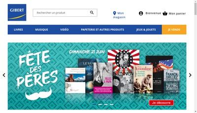 Site internet de Gibert Joseph