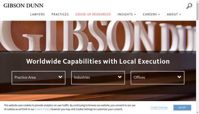 Site internet de Gibson Dunn et Crutcher