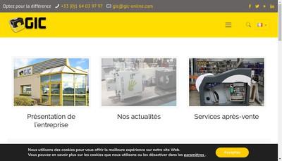 Site internet de EURL GIC